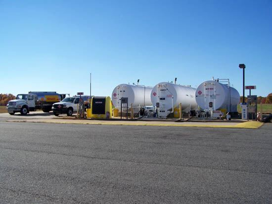 Multiple Gas Tanks At Airport
